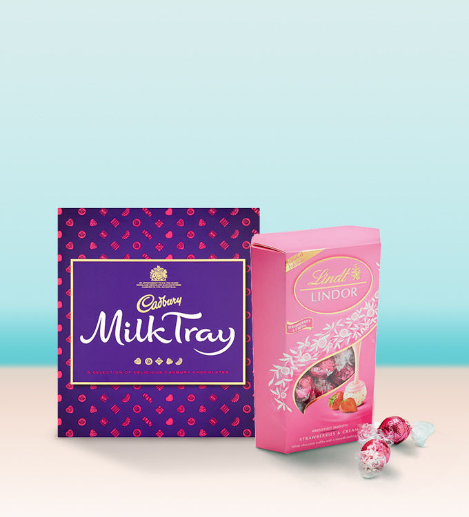 Mothers day gift and present ideas for mum asda cadbury milk tray and lindt lindor limited edition strawberries cream carton negle Images