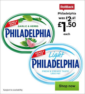 Crackers savoury snacks asda groceries philadelphia light and philadelphia garlic herb solutioingenieria Gallery
