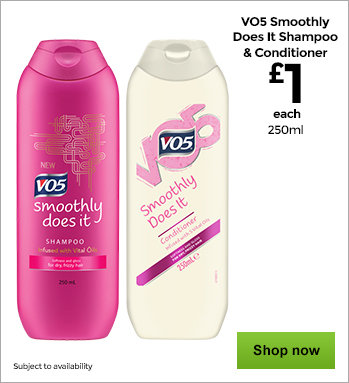 VO5 Smoothly Does It Shampoo and VO5 Smoothly Does It Conditioner