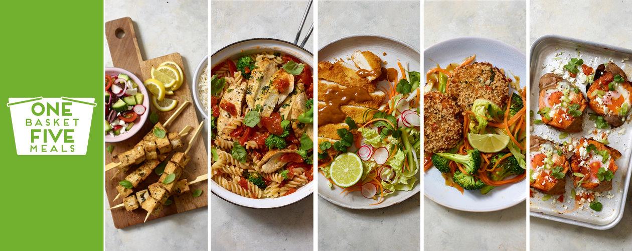 Chicken katsu,tofu souvlaki and spicy tuna fishcakes