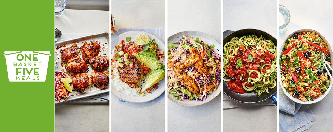 Hoisin chicken, Hawaiian-style pork steaks and Thai-inspired salad