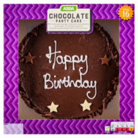 Asda large chocolate birthday cake asda groceries publicscrutiny Image collections