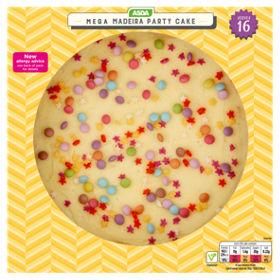 Rainbow birthday cake asda best cake 2017 asda mega madeira cake groceries sciox Images