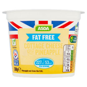 ASDA Fat Free Cottage Cheese With Pineapple