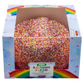 Asda rainbow jazzie cake asda groceries sciox Images