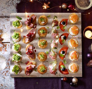 Easy canapés for Christmas & New Year's Eve