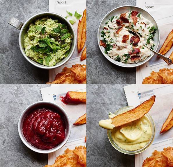 Classy condiments for classic fish and chips
