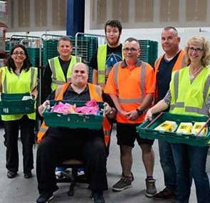 A big thank you to all the wonderful volunteers at food charity FareShare
