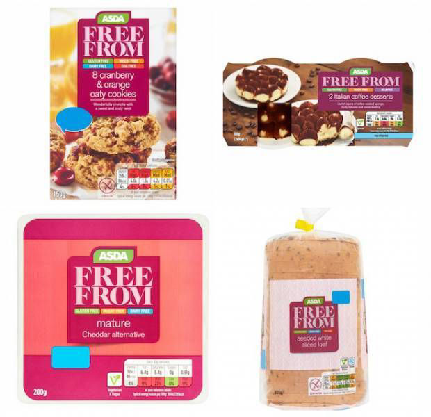 Asda winners at the FreeFrom Food Awards 2018