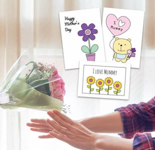 Make your mum a Mother's Day card for free