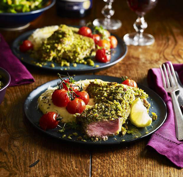 This totally decadent dinner party menu is perfect for a cosy night in